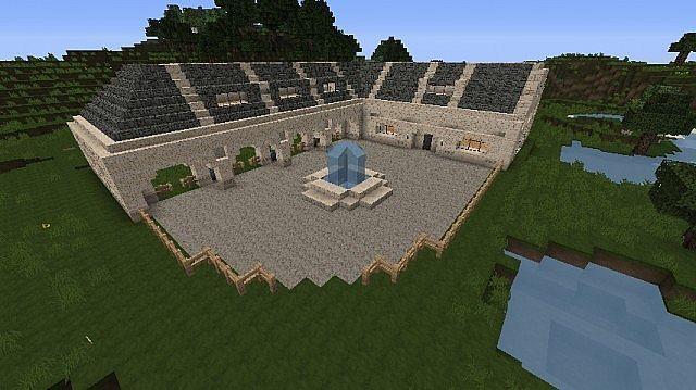 Minecraft Horse Barn With Paddocks   Google Search