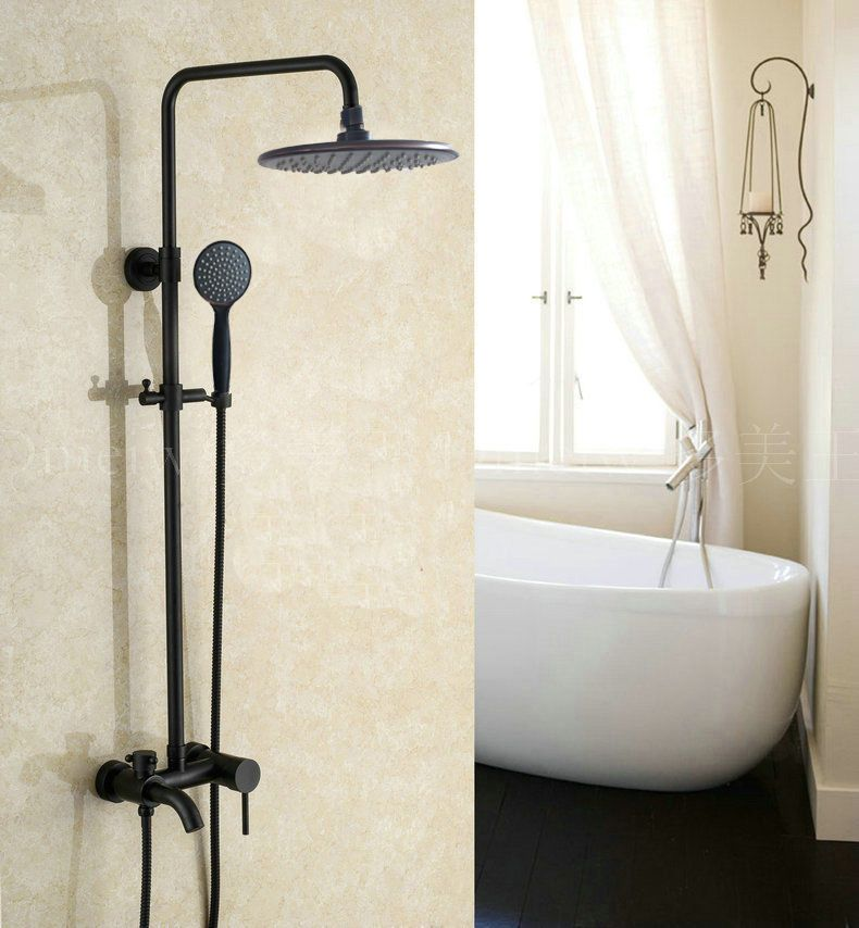 Bathroom Shower Faucet Oil Rubbed Bronze Rain Shower Head Tub