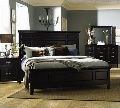 colors with black bedroom set Bedroom Furniture Black is Elegant