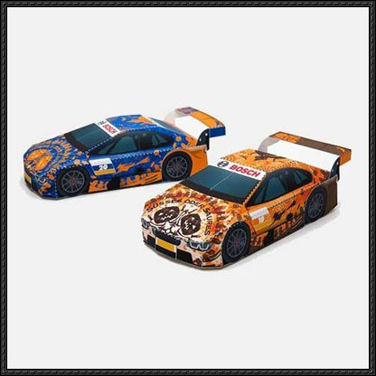 2014 Autumn Bosch Racing Car Paper Models Free Download gift - halloween decorated cars