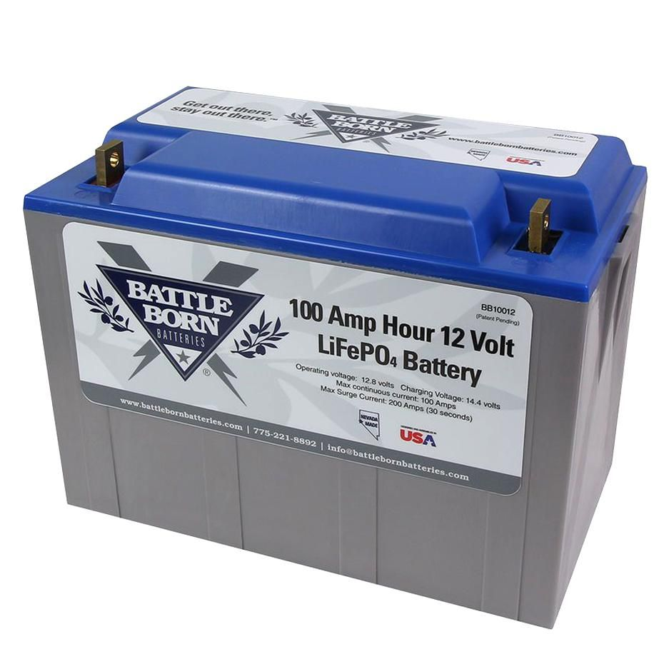The Battle Born Bb10012 100ah 12 Volt Lifepo4 Lithium Iron Phosphate Deep Cycle Battery Is Made In The Usa In Beautiful R Rv Battery Deep Cycle Battery Battery