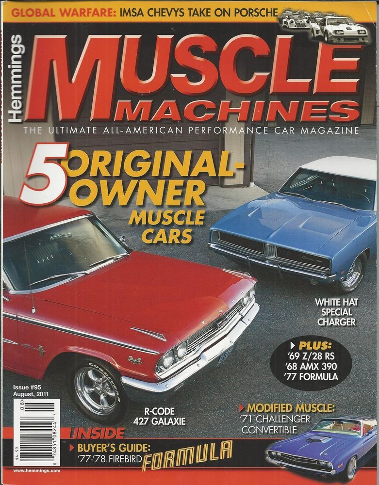 Hemmings Muscle Machines Car Magazine Original Owners Challenger