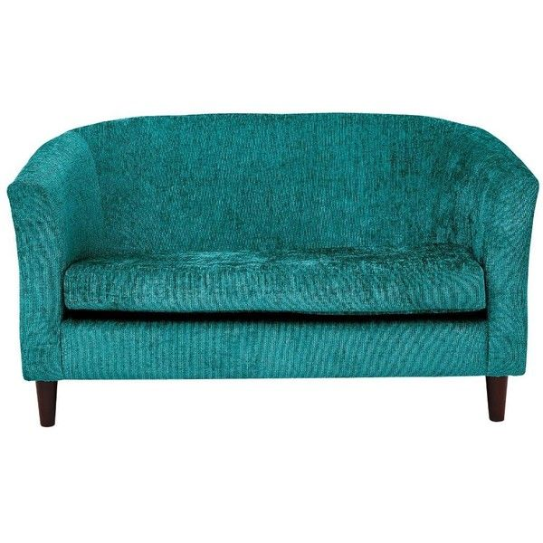 Orson 2-Seater Fabric Tub Sofa ($210) ❤ liked on Polyvore featuring ...