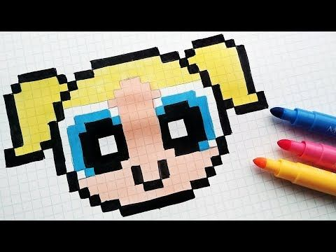 Handmade Pixel Art - How To Draw The Powerpuff Girls #pixelart - YouTube