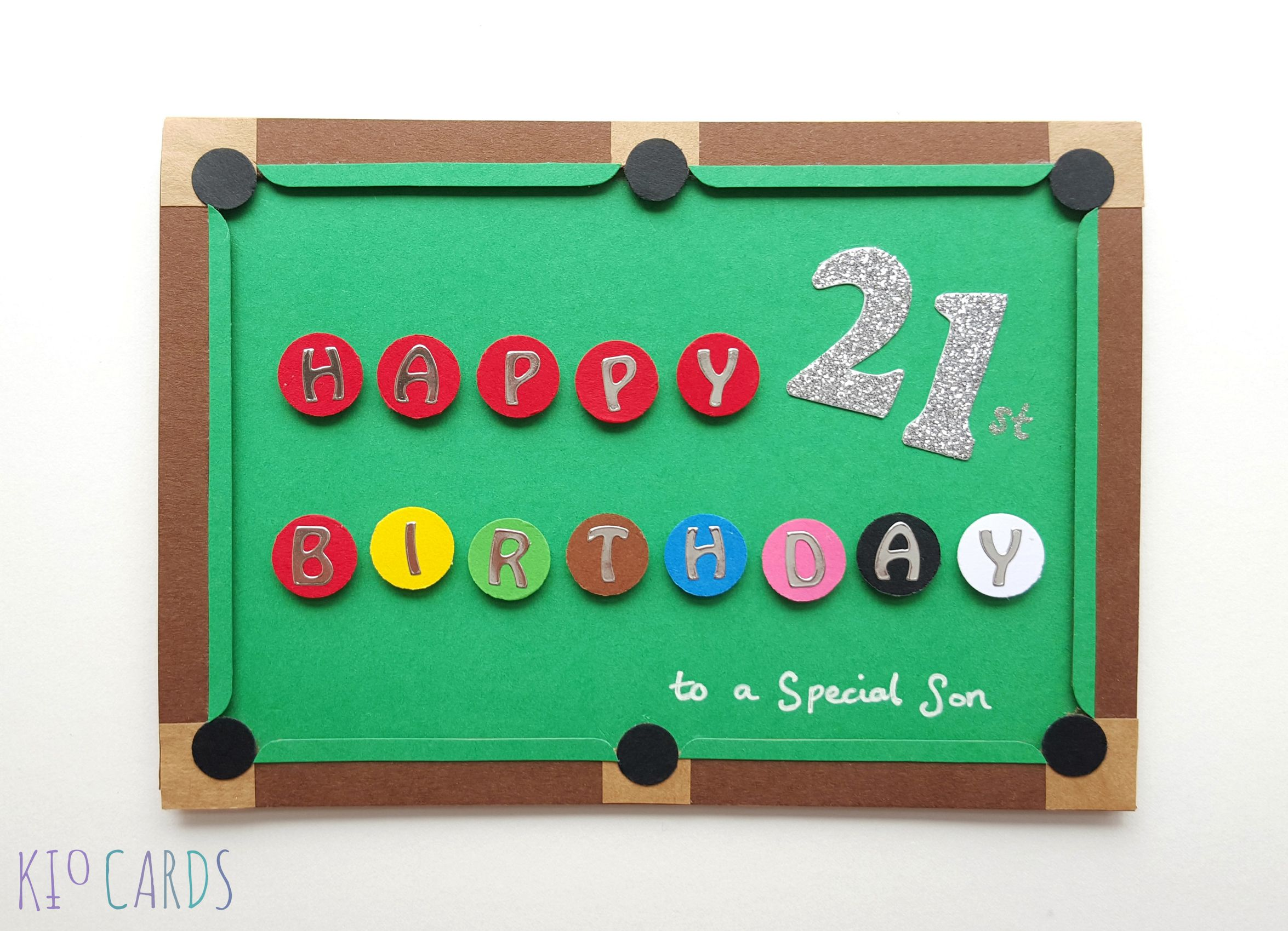 Cool Card Pool Table Birthday Cards 21st