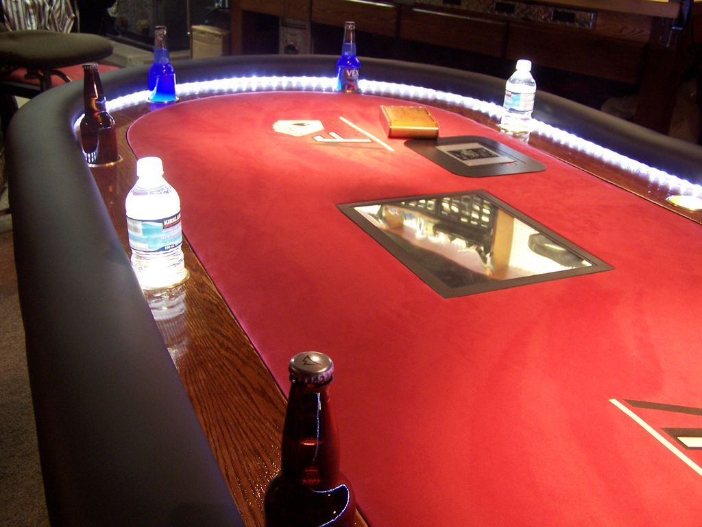 Put An Lcd In Your Poker Table Poker Table Poker Table Plans Poker