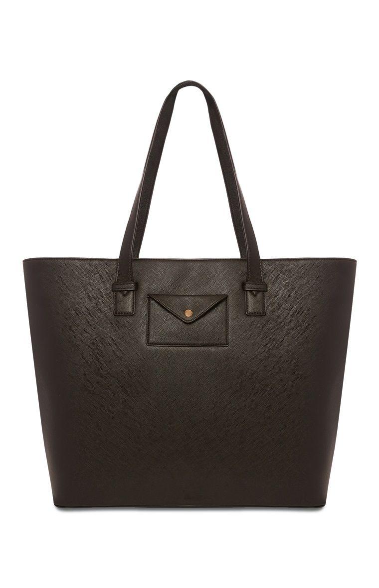 Black Pocket Shopper Bag Primark 163 10 Shopper Bag Bags