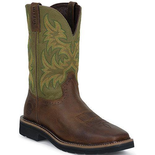 WK4687 Justin Original Men's Work Boots from Bootbay, Internet's Best  Selection of Work, Outdoor, Western Boots and Shoe… | Boots, Justin work  boots, Work boots men