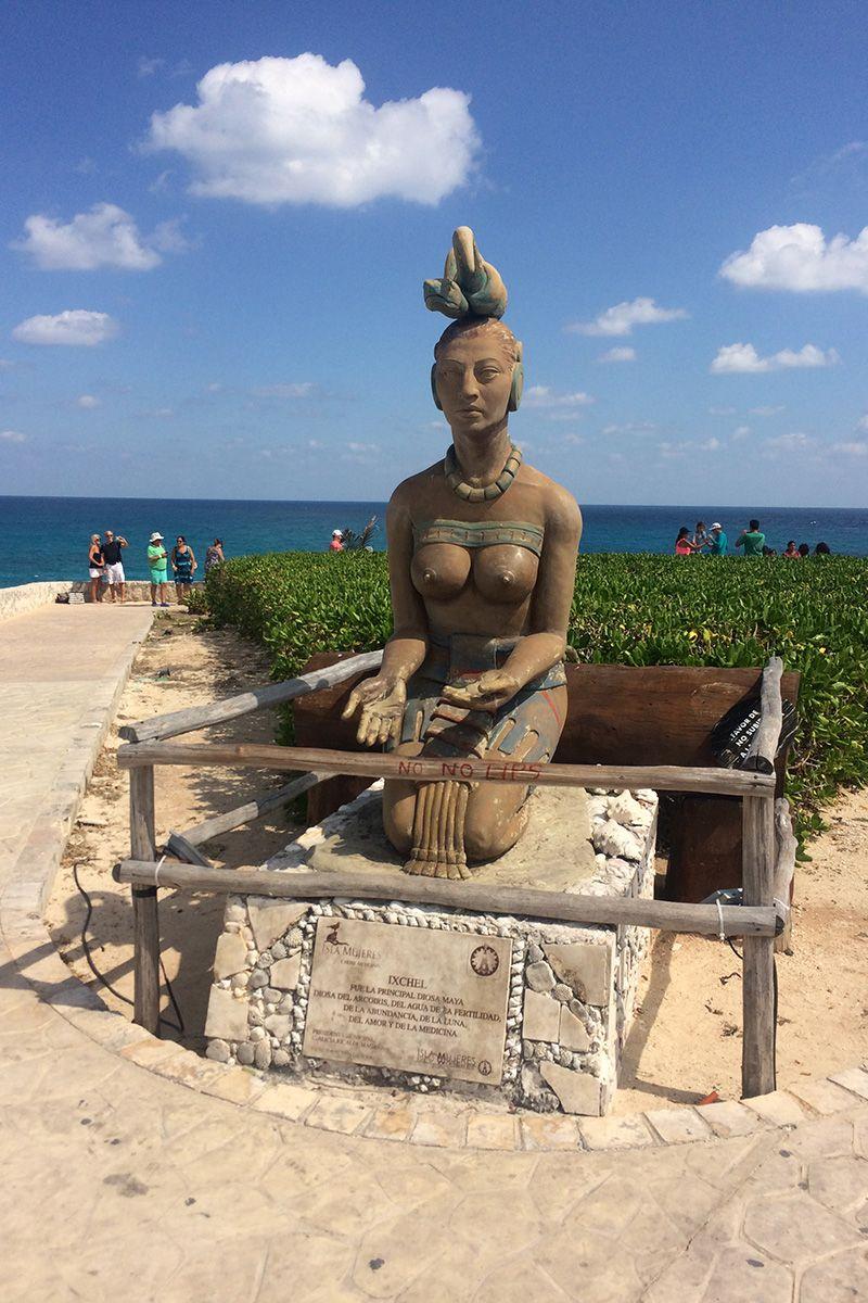 Mayan Goddess Ixchel, Island Isla Mujeres, Mexico