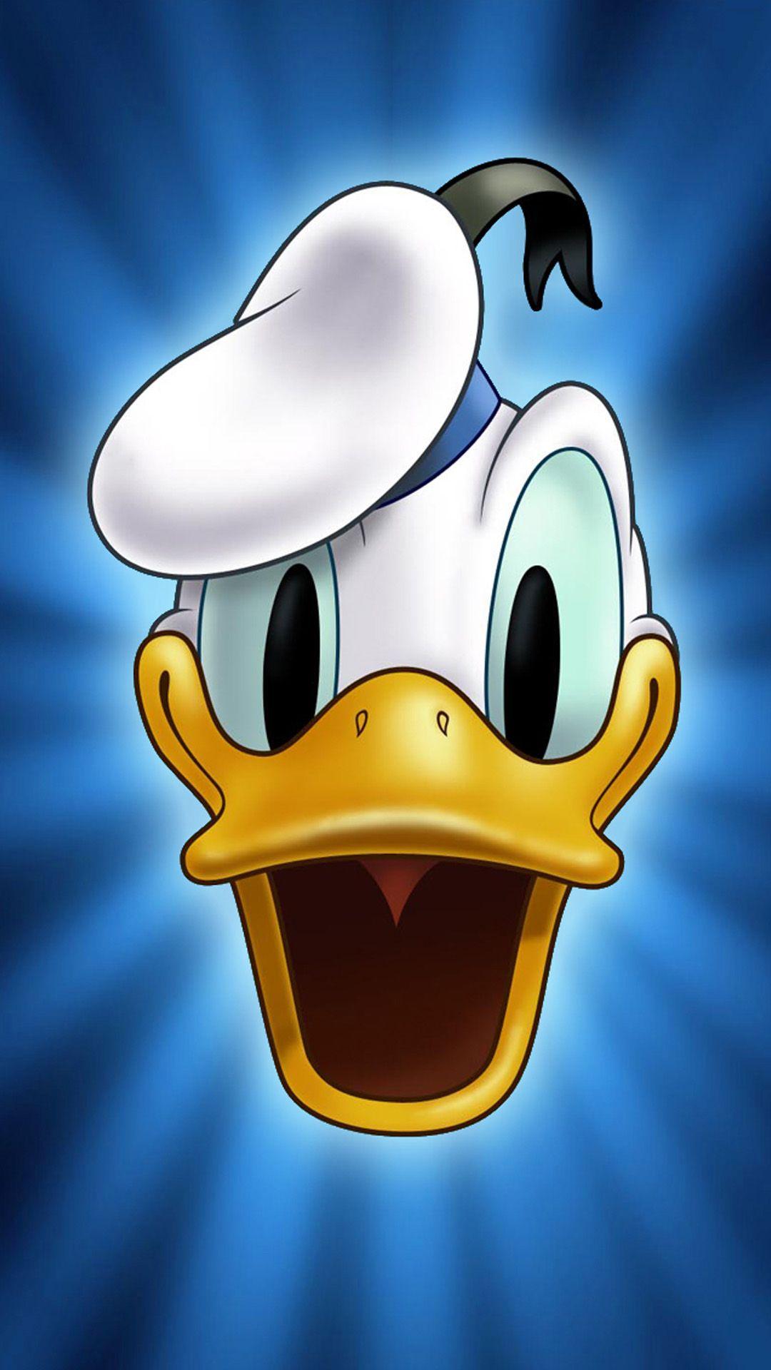 Cute Cartoon Donald Duck Face iPhone 6 plus wallpaper