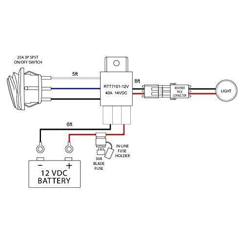 Nilight Off Road ATVJeep LED Light Bar Wiring Harness Kit