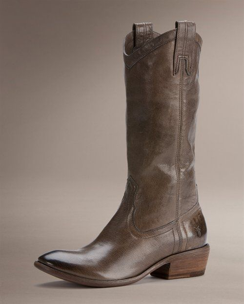 Frye Carson Pull On Boots in Smoke. Timeless and the color is gorgeous. Will