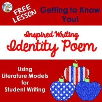 identity poem using literature models for inspired writing poetry lesson ideas identity. Black Bedroom Furniture Sets. Home Design Ideas