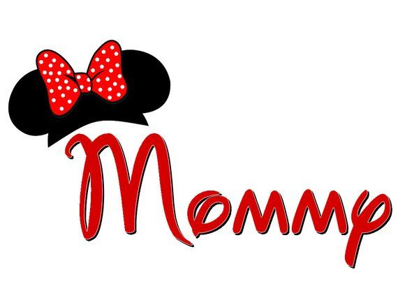 Mom or Mommy with Mickey Ears Custom Iron on Transfer ...