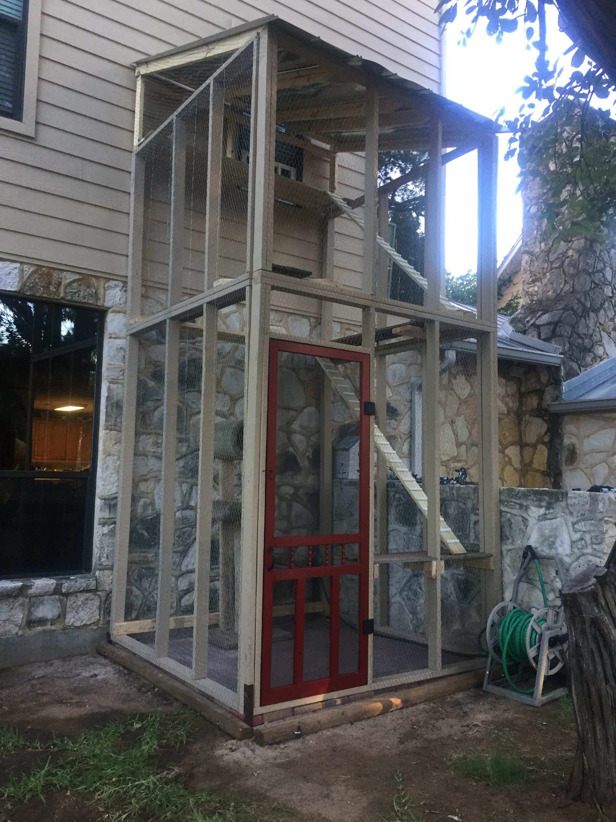 Two Story Catio Catio House How To Build A Catio