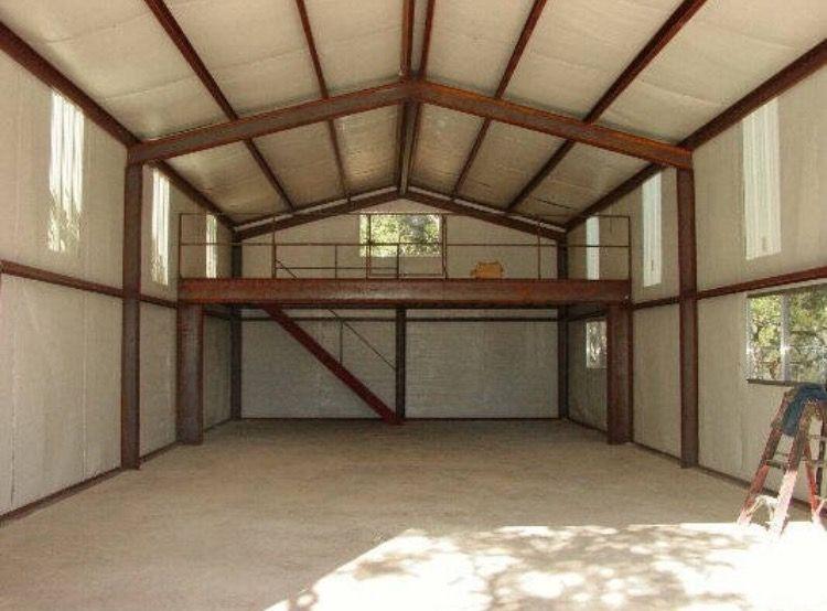 Turning a metal barn into a barn loft. Metal building