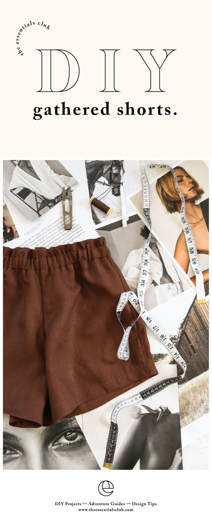 Photo of DIY: Gathered Shorts