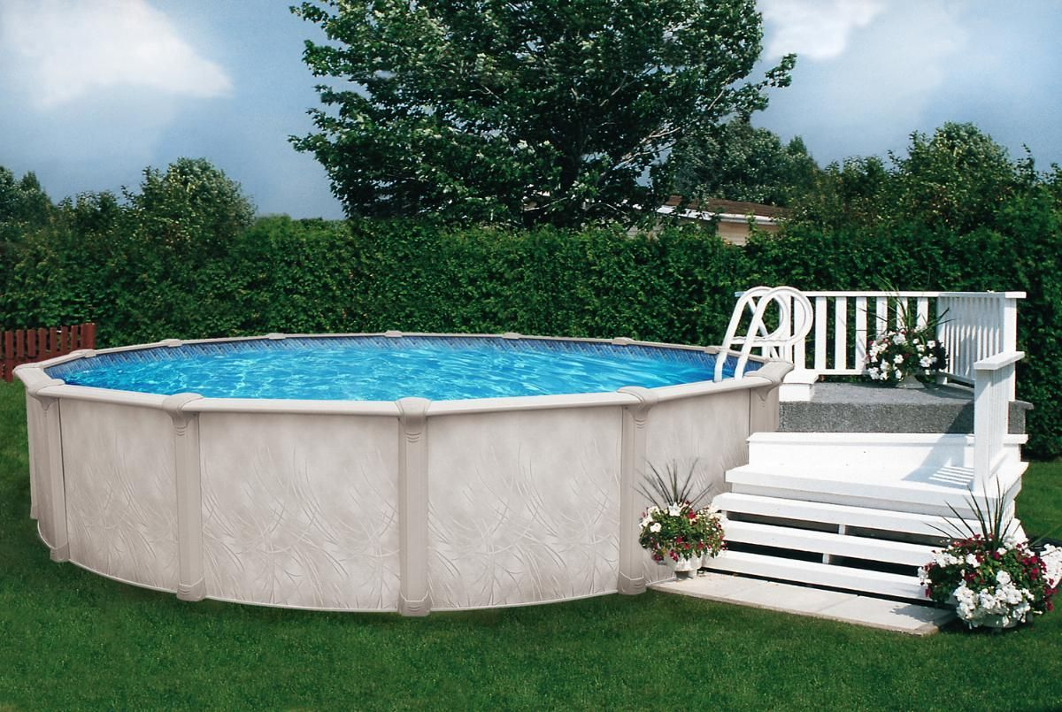 Small wood deck for above ground pool inspiration deco - How to build an above ground swimming pool ...