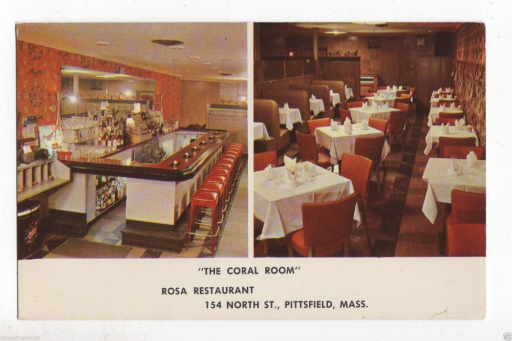 The Coral Room Rosa Restaurant Pittsfield Mass Used Postcard
