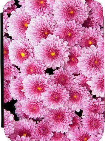 Rikki Knighttm Pink Flowers Kindle Firetm Notebook Case Black Faux Leather Unisex Not For Kindle Pink Flowers Wallpaper Flower Screensaver Flower Wallpaper