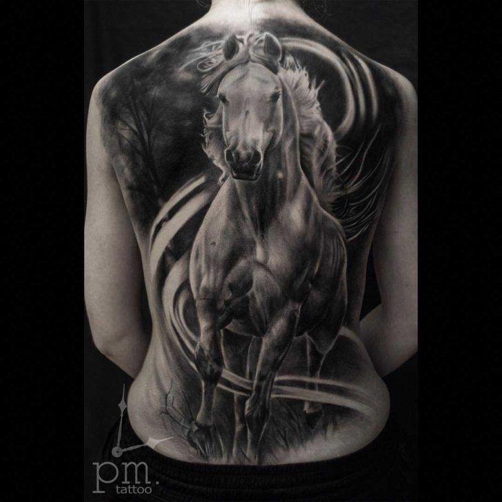 a75b06e1c6bef full back horse tattoo | Horse Tattoo | Horse tattoo design, Tattoos ...