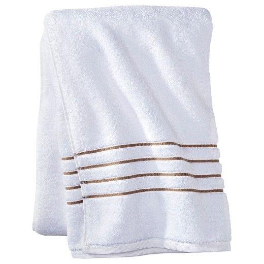Luxury Stripe Accent Bath Towels Fieldcrest Target Bath Towels Towel White Towels