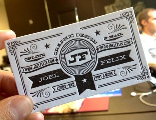 25 beautiful cool letterpress business card design for inspiration