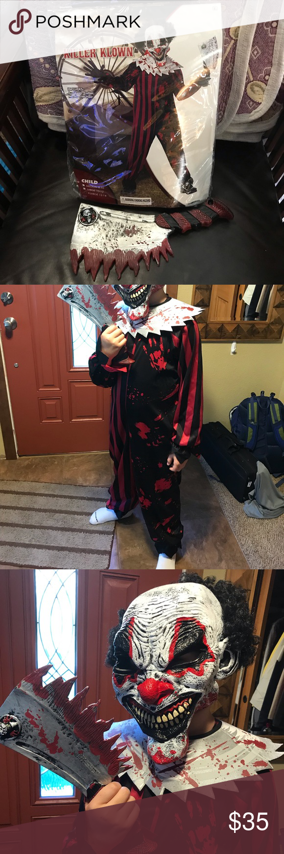 NEW Killer Klown child costume set 🤡 🔪 Never used! Only