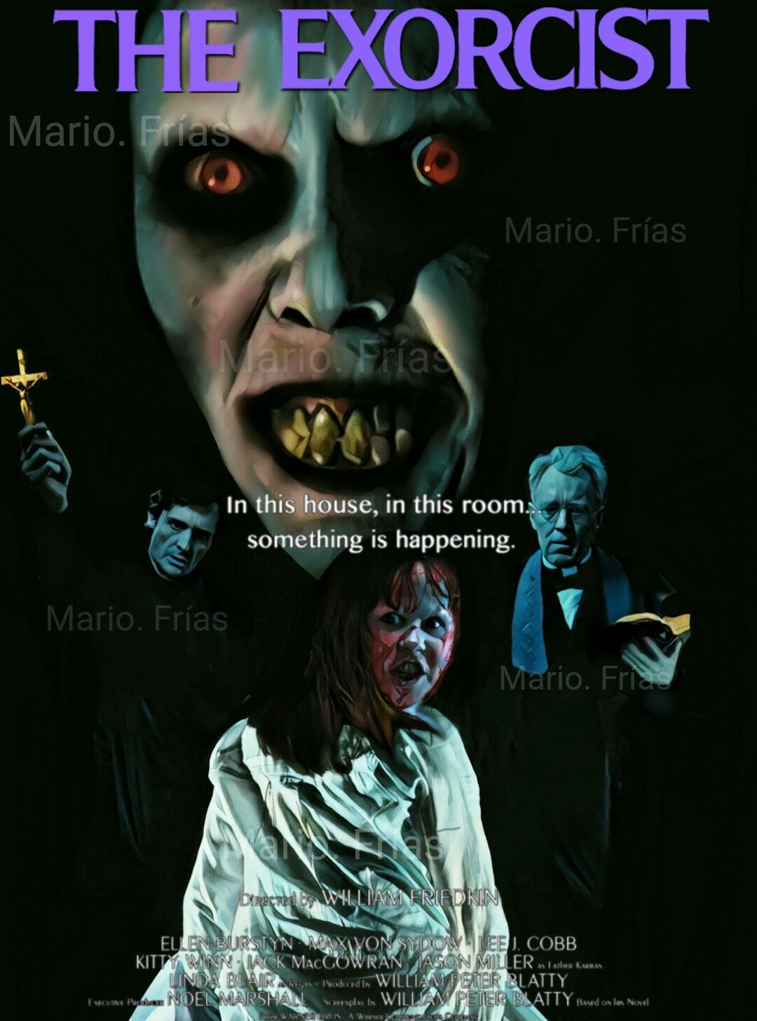 scream 1996 wes craven horror movie slasher fan made edit by mario the exorcist 1973 horror movie fan made edit by mario frías