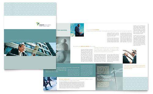 Wealth management services brochure template market for Managed services brochure template
