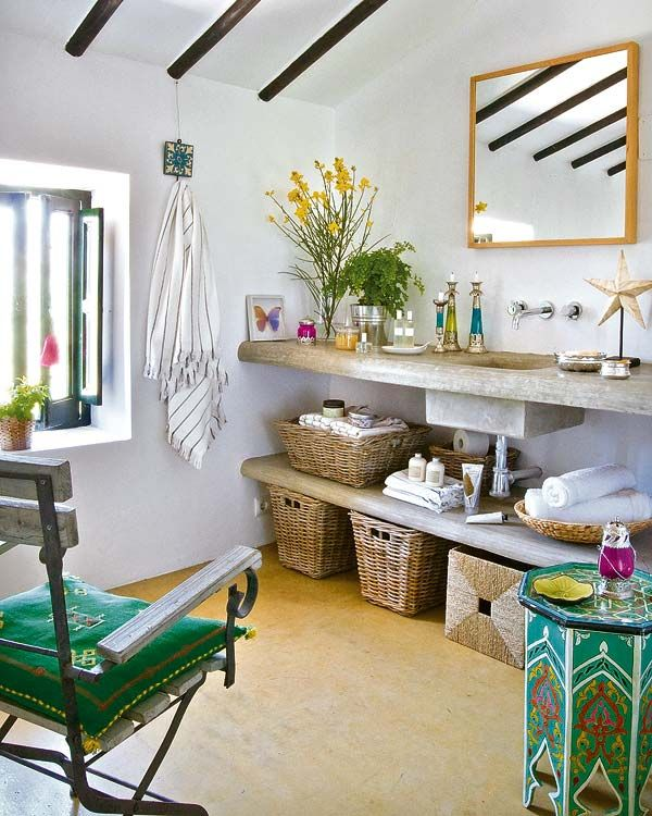 yellow Bath Pinterest Bohemian, Natural furniture and Decoration