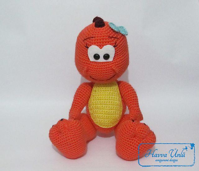 Ravelry: Dinosaur (crochet, amigurumi) pattern by Havva Ünlü ...
