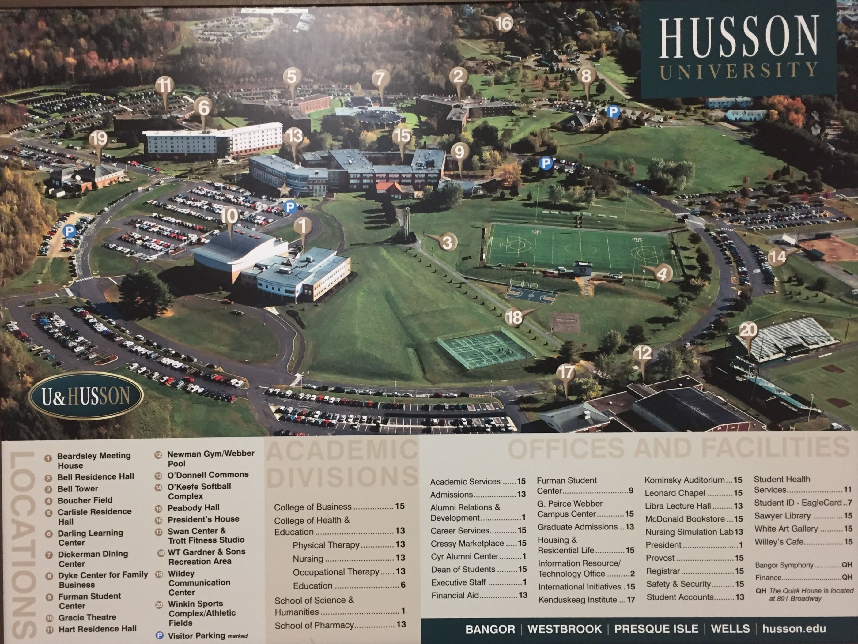 Husson University Campus Map.Husson University Campus Map University University Campus Map