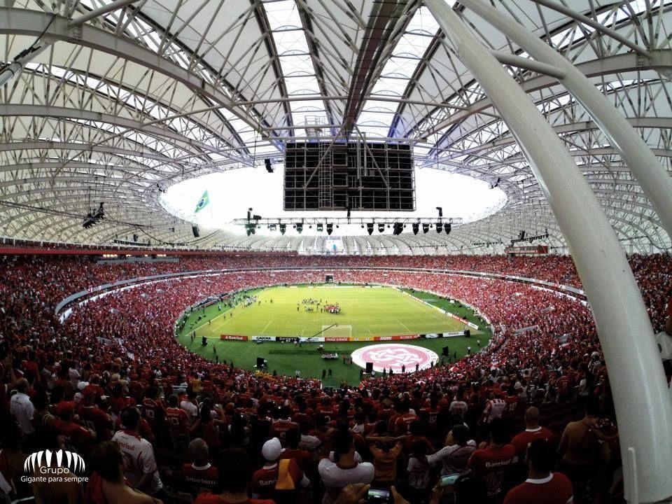 Jogo Inaugural Abril 2014 Gigante Da Beira Rio Em Porto Alegre Brasil Internacional Futebol Clube Sport Clube Internacional Sport Clube