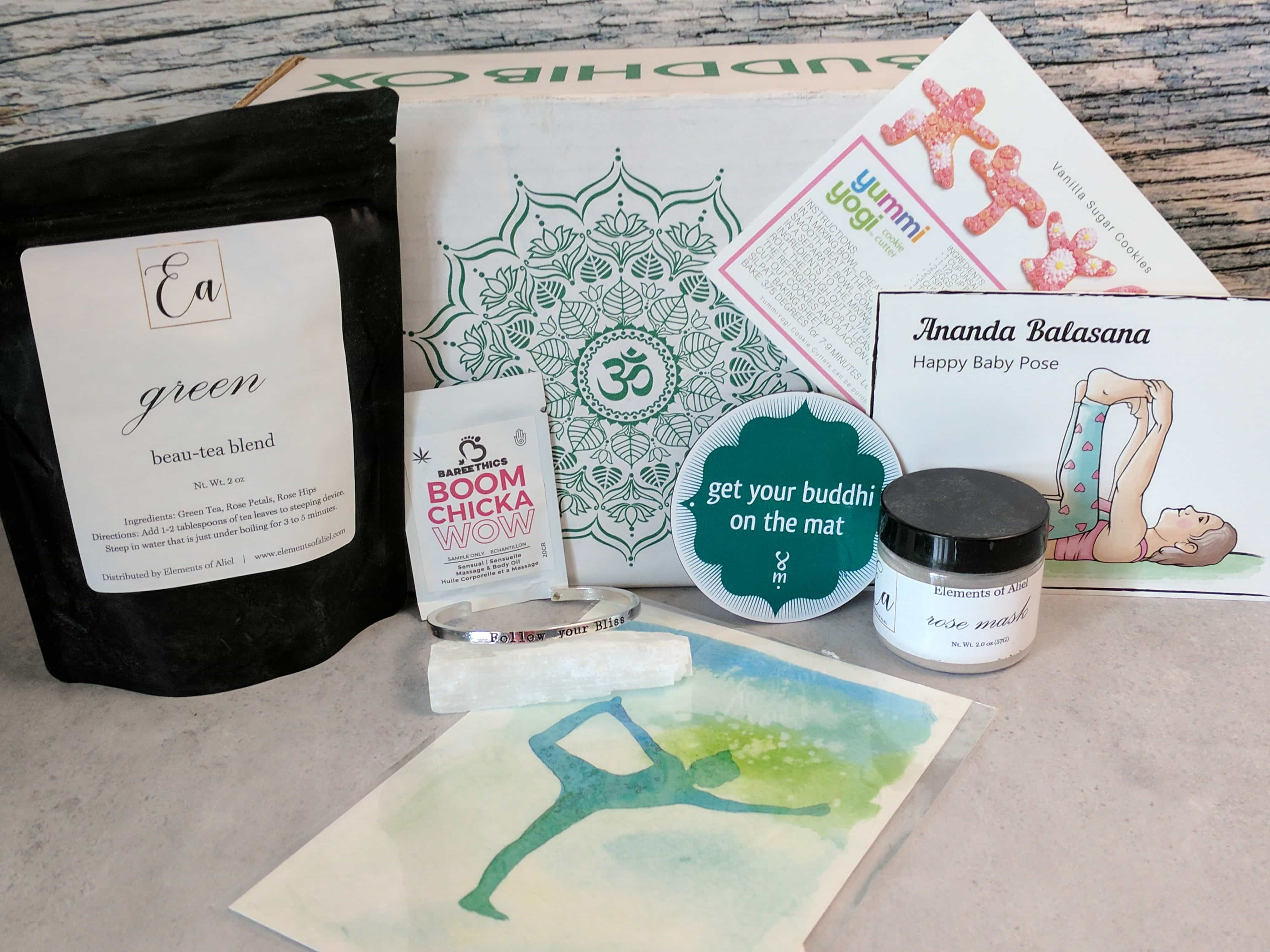 BuddhiBox is a monthly subscription that delivers items related to