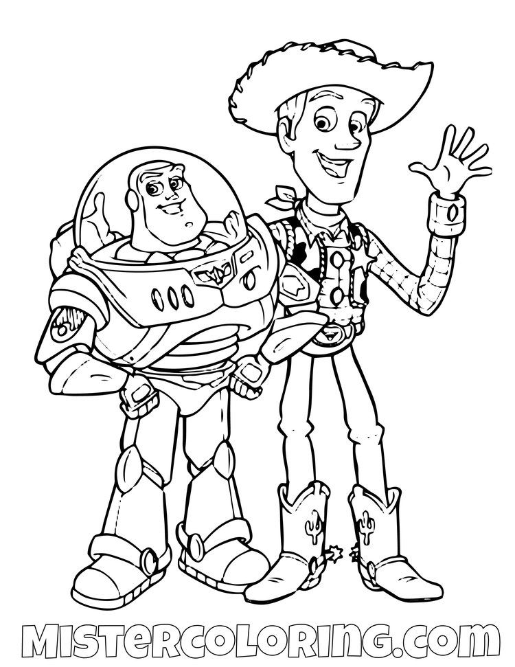 Toy Story Coloring Page For Kids — Mister Coloring | Toy ...