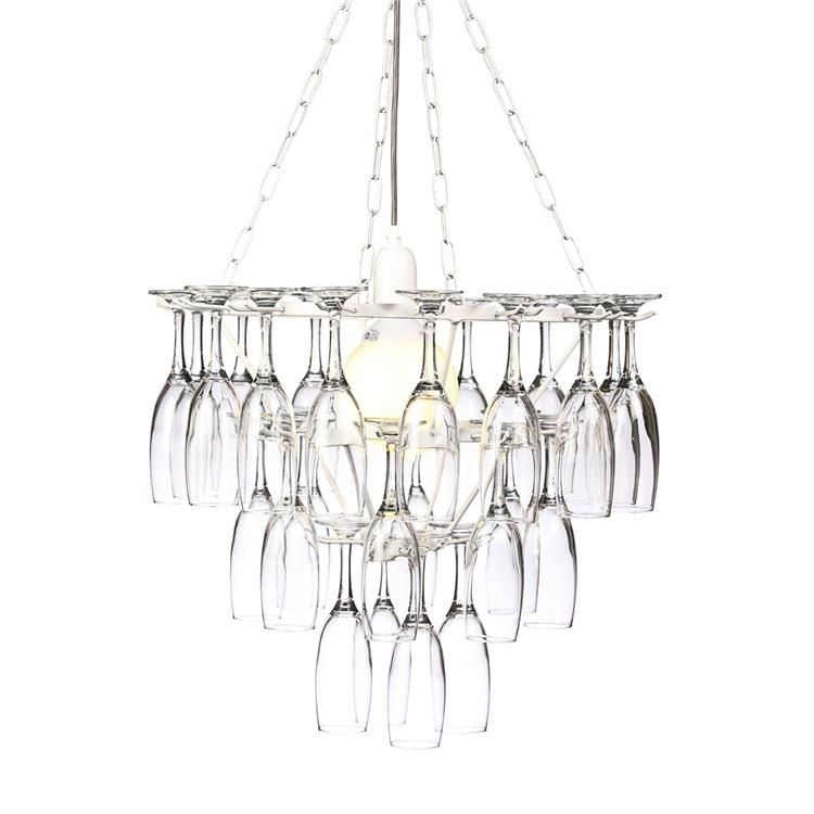 Champagne Gl Chandelier Love This Idea For The Dinning Room
