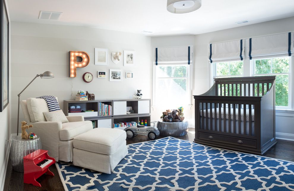 Magnificent crib bumpers in Nursery Contemporary with