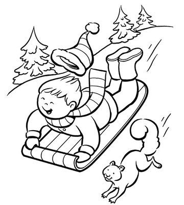 Printable Winter Coloring Pages | Kindergarten, Kid printables and ...