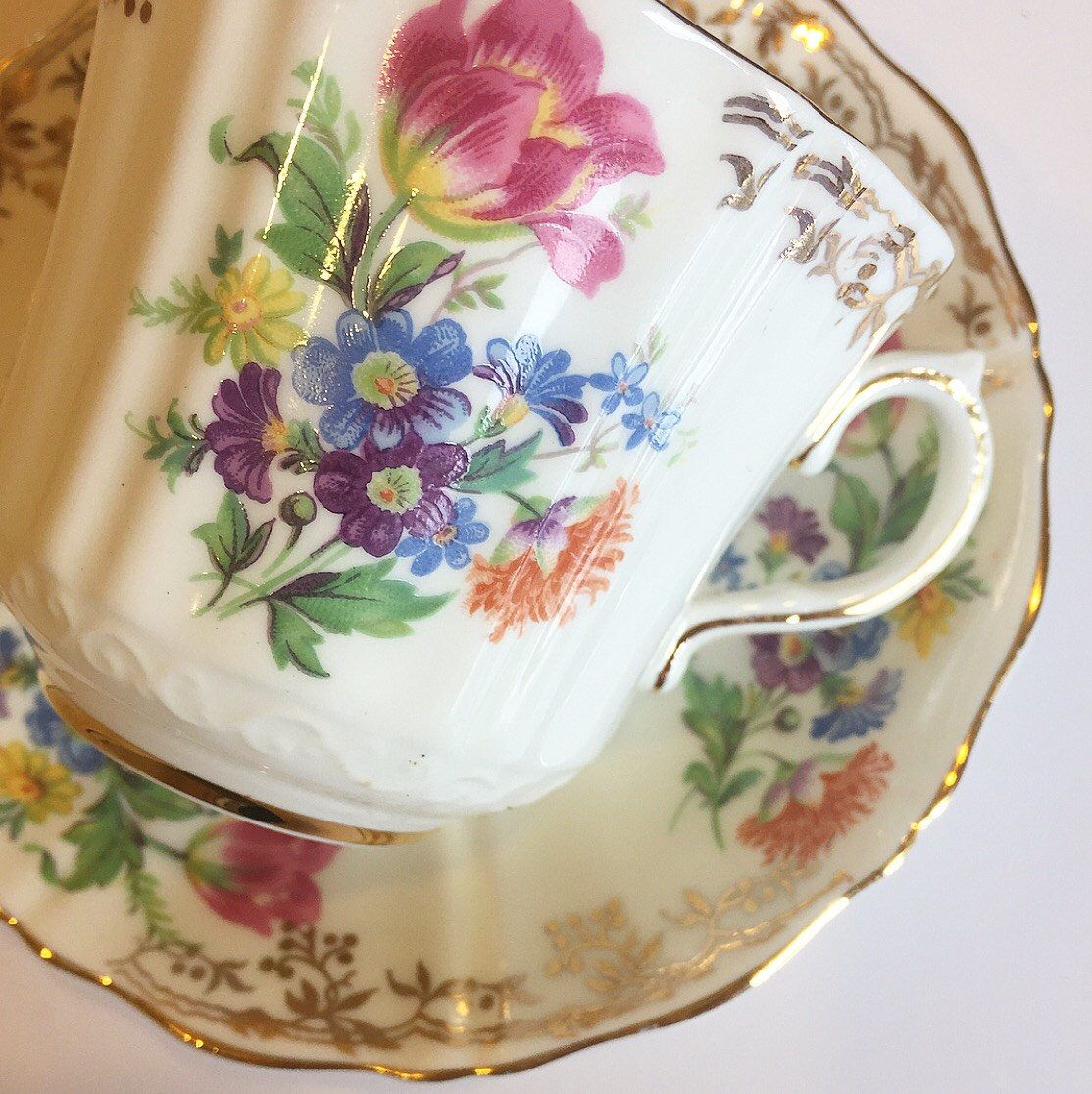 A personal favorite from my Etsy shop https://www.etsy.com/listing/523042067/vintage-tea-cup-gold-trim-made-in
