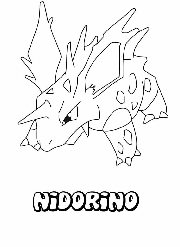 Pokemon Nidorino Coloring Page Pokemon Coloring Pages Coloring