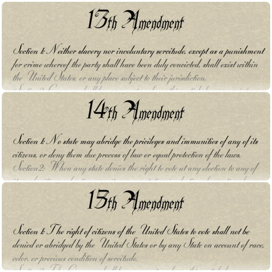 These Are The Th Th And Th Amendments Of The Constitution  These Are The Th Th And Th Amendments Of The Constitution Made After  The Civil War Ended In  Amendment  Made Slavery Illegal What Is A Thesis In An Essay also Terrorism Essay In English Thesis Statement Generator For Compare And Contrast Essay