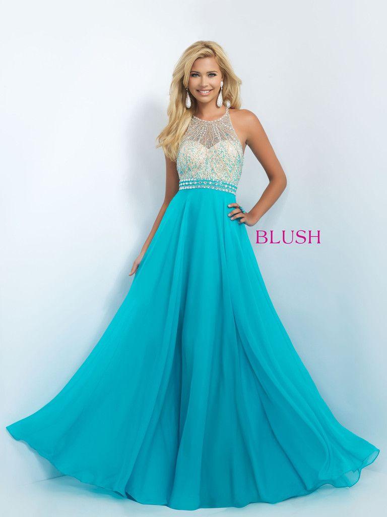 Blush Prom 11052 Turquoise