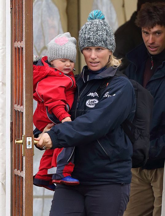 Zara Tindall bonds with baby Mia at Gatcombe Horse Trials ...