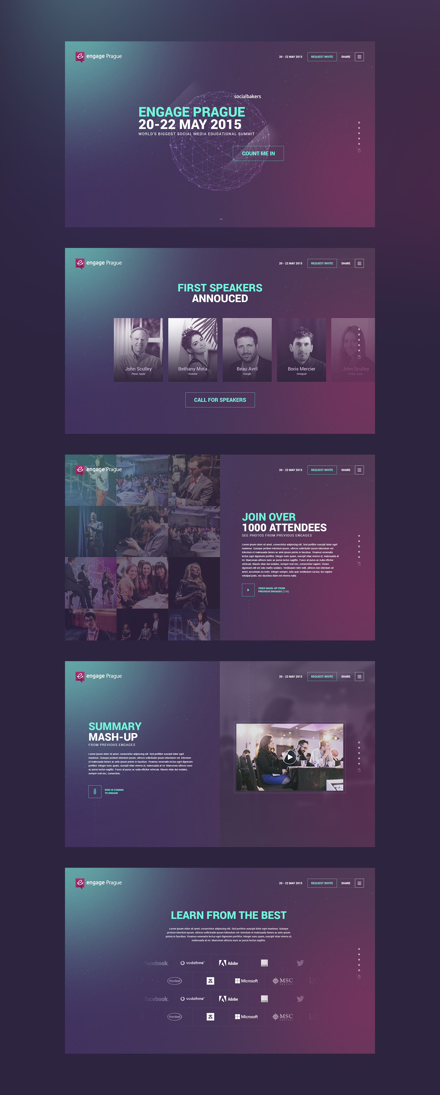 webdesign cr u00e9ative purple