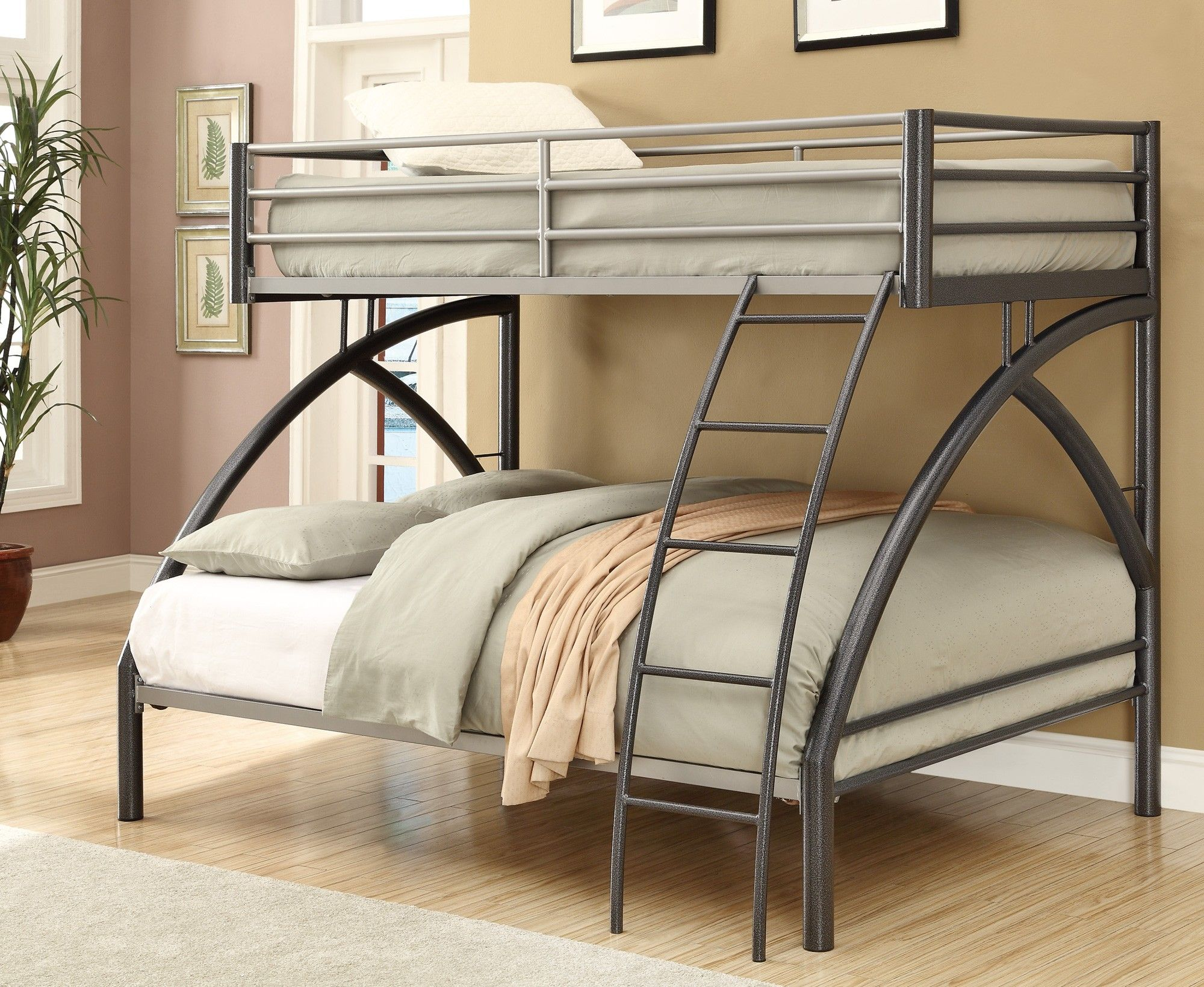 Bedroom ideas with loft bed   Black Twin Over Full Bunk Bed  Down the Shore  Pinterest