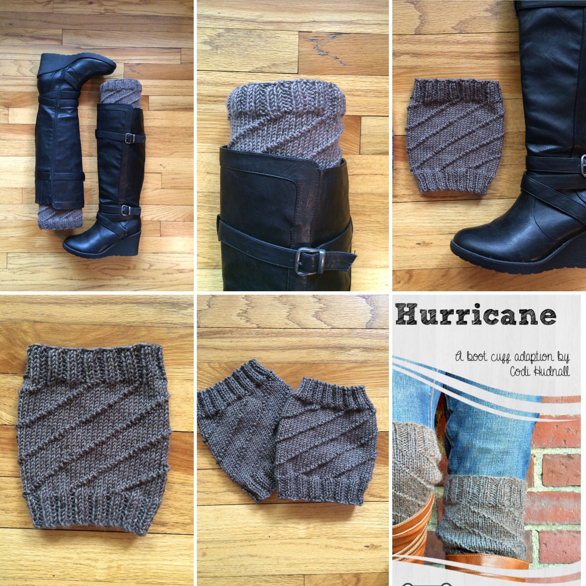 Knitted boot cuffs free pattern hurricane by codi hudnall on knitted boot cuffs free pattern hurricane by codi hudnall on craftsy includes 3 bankloansurffo Images