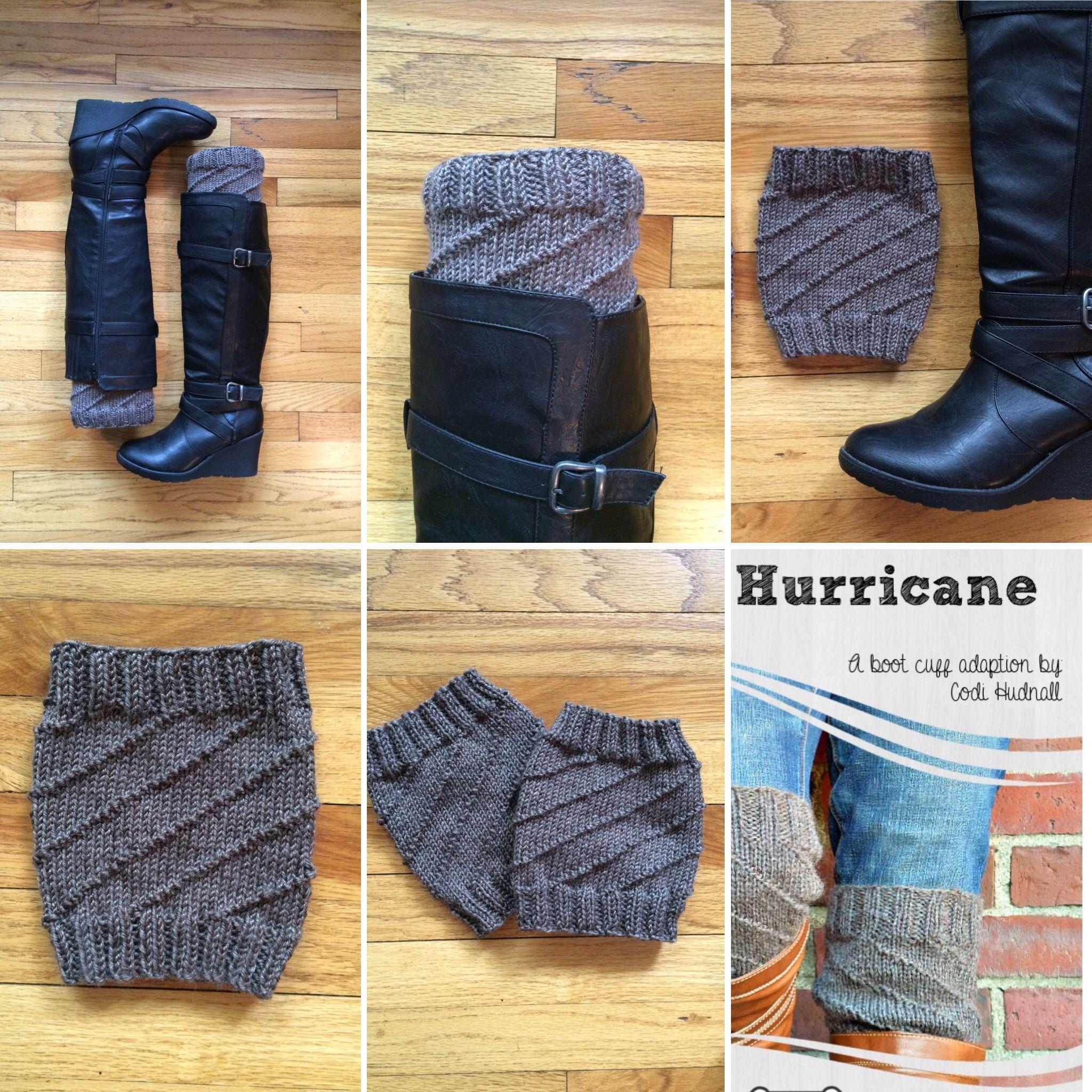 Knitted boot cuffs! Free pattern: Hurricane by Codi Hudnall on ...