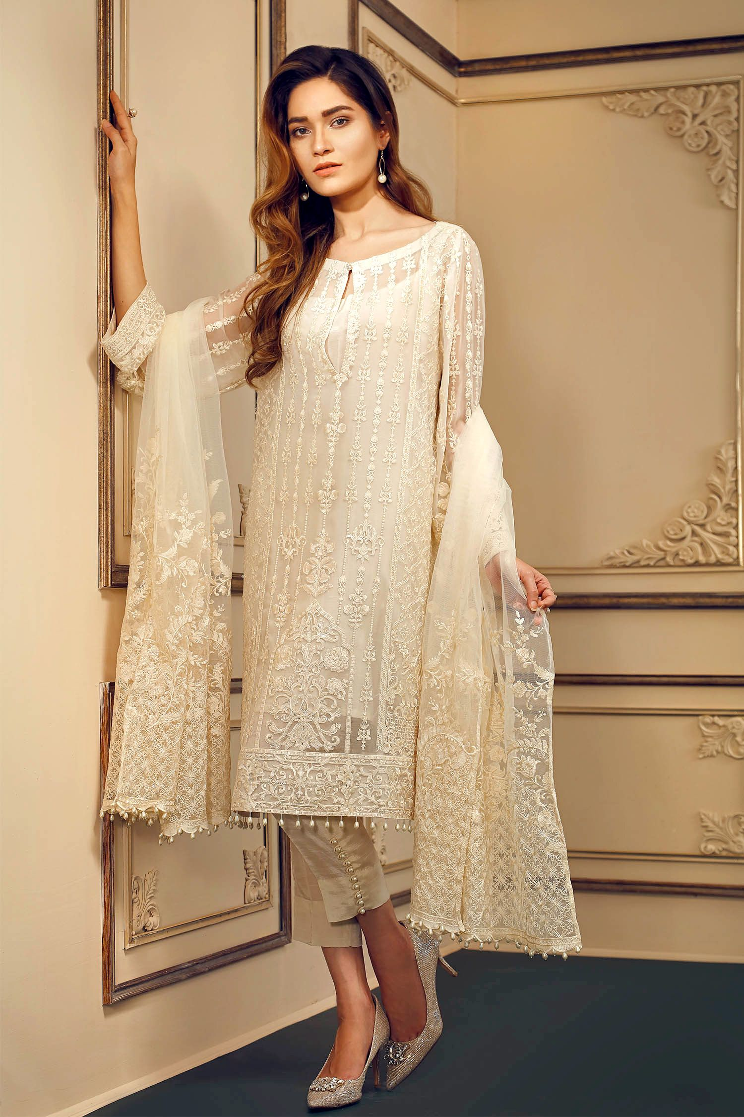 dc015d8f12 Shop Stitched 3pc Orignal Pakistani Designer Latest Embroidered Chiffon  Salwar Suit Collection at PinkPhulkari California. Ready to ship from  California.