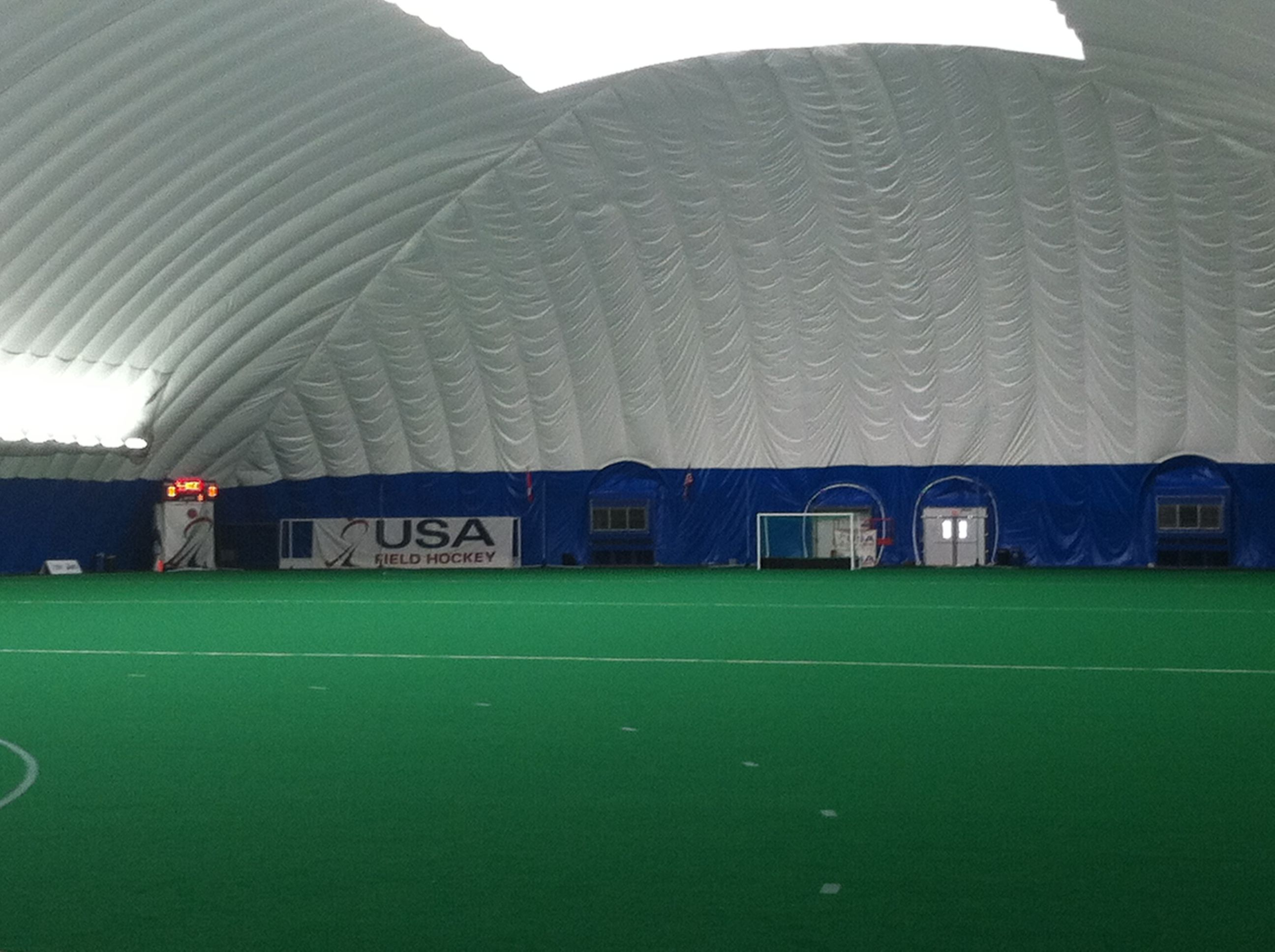 Inside The Dome Looking At The Far Goal Spooky Nook Sports Sports Complex Spooky Nook